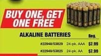 Northern Tool and Equipment Black Friday: Alkaline Batteries - B1G1 Free