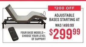 Value City Furniture Black Friday: Adjustable Bases for $299.99