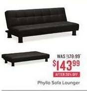 Value City Furniture Black Friday: Phyllo Sofa Lounger for $143.90