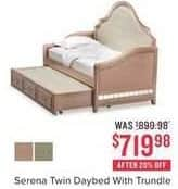 Value City Furniture Black Friday: Serena Twin Daybed with Trundle for $719.98