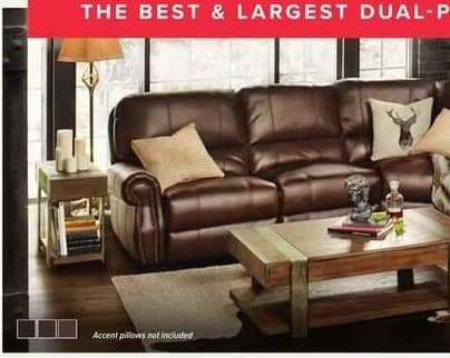 Value City Furniture Black Friday: Dartmouth 6-pc. Dual-Power Reclining Sectional for $2,239.94