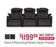 Value City Furniture Black Friday: Fiero 3-pc. Dual-Power Home Theater for $1,199.98