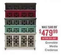 Value City Furniture Black Friday: Grenoble Media Credenza for $479.99