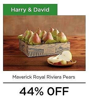 LivingSocial Black Friday: Harry and David Maverick Royal Riviera Pears - 44% Off
