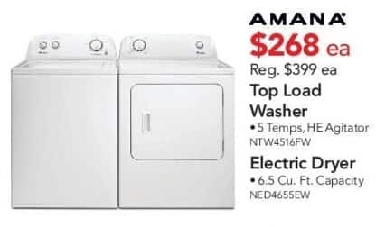 ABT Electronics Black Friday: Amana NED4655EW Electric Dryer for $268.00
