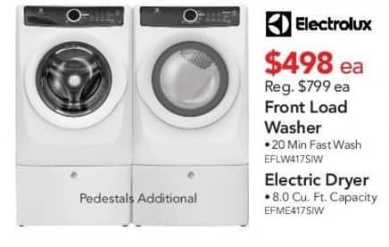 ABT Electronics Black Friday Electrolux EFLWSIW Front Load - Abt washers