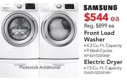 ABT Electronics Black Friday: Samsung DV42H5200EWH Electric Dryer for $544.00