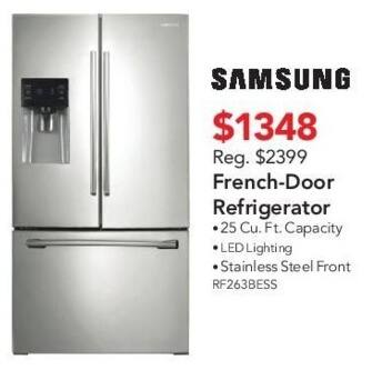 ABT Electronics Black Friday: Samsung RF263BESS French-Door Refrigerator for $1,348.00