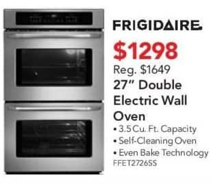 "ABT Electronics Black Friday: Frigidaire FFET2726SS 27"" Double Electric Wall Oven for $1,298.00"