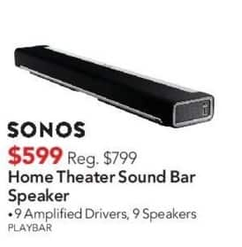 ABT Electronics Black Friday: Sonos Home Theater Sound Bar Speaker for $599.00