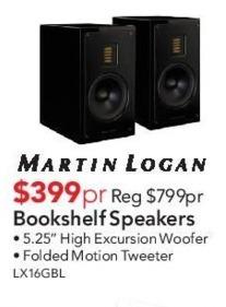 ABT Electronics Black Friday Martin Logan Bookshelf Speakers For - Abt speakers