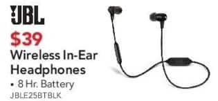 ABT Electronics Black Friday: JBL Wireless In-Ear Headphones for $39.00