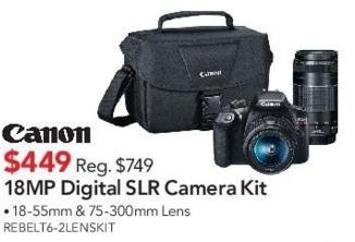 ABT Electronics Black Friday: Canon 18MP Digital SLR Camera Kit for $449.00