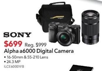 ABT Electronics Black Friday: Sony Alpha a6000 Digital Camera for $699.00