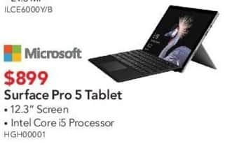 ABT Electronics Black Friday: Microsoft Surface Pro 5 Tablet for $899.00