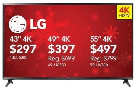 "ABT Electronics Black Friday: 43"" LG 43UJ6300 4K TV for $297.00"