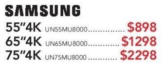 "ABT Electronics Black Friday: 55"" Samsung UN55MU8000 4K TV for $898.00"