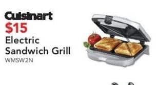 ABT Electronics Black Friday: Cuisinart Electric Sandwich Grill for $15.00