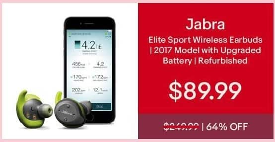 eBay Cyber Monday: Jabra Elite Sport Wireless Earbuds (Refurb) for $89.99
