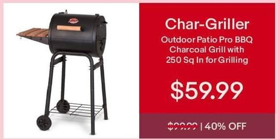 EBay Cyber Monday: Char Griller Outdoor Patio Pro BBQ Charcoal Grill For  $59.99