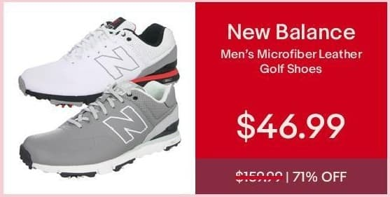 eBay Cyber Monday: New Balance Men's Microfiber Leather Golf Shoes for $46.99