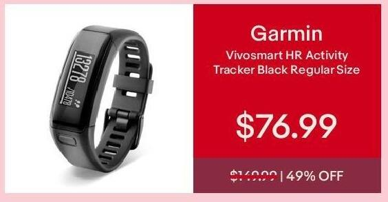 eBay Cyber Monday: Garmin Vivosmart HR Activity Tracker for $76.99
