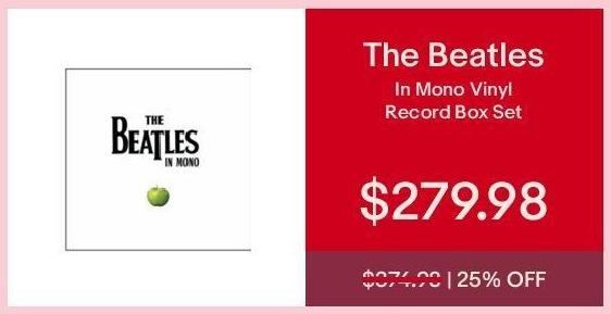 eBay Cyber Monday: The Beatles in Mono Vinyl Record Box Set for $279.98