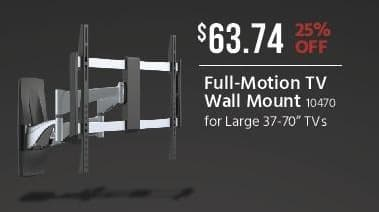 Monoprice Black Friday: Full-Motion TV Wall Mount for $63.74
