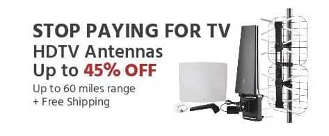 Monoprice Black Friday: HDTV Antennas - Up to 45% Off