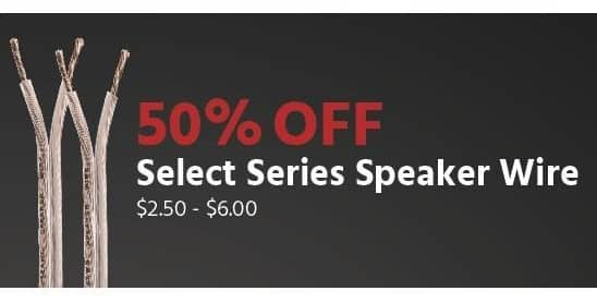 Monoprice Black Friday: Select Series Speaker Wire - 50% Off