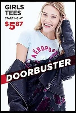 Aeropostale Black Friday: Girls' Tees for $5.87