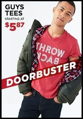 Aeropostale Black Friday: Guys' Tees for $5.87