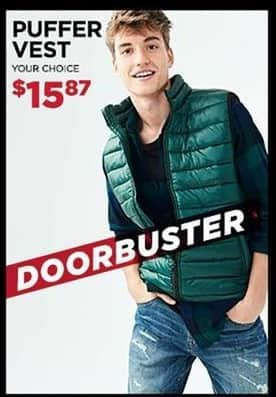 Aeropostale Black Friday: Puffer Vest for $15.87