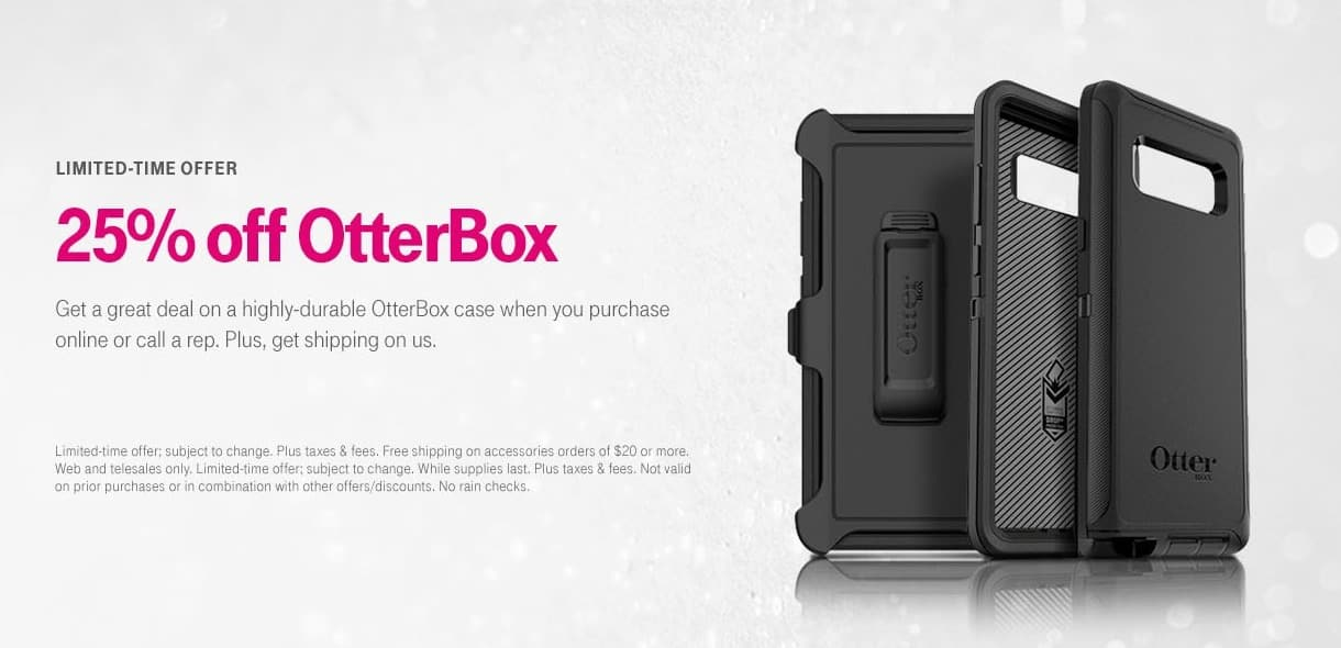 T-Mobile Cyber Monday: OtterBox Case - 25% Off