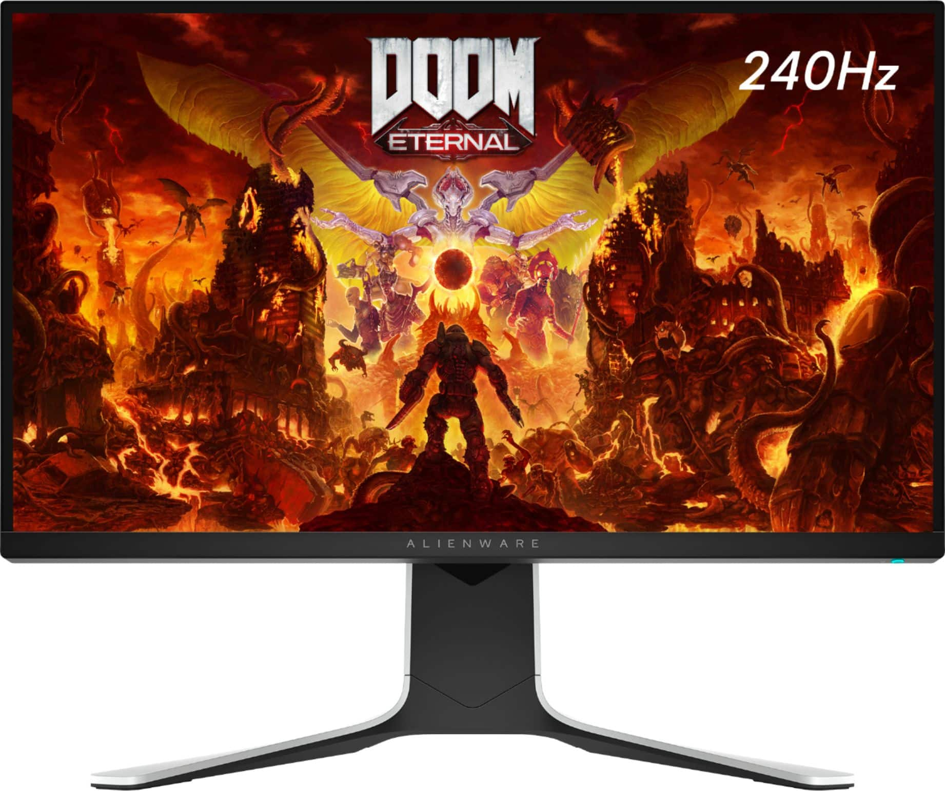 """Alienware AW2720HF 27"""" IPS LED FHD FreeSync and G-SYNC Compatible Monitor (DisplayPort, HDMI, USB) Black GY2XK - Best Buy $319.99"""