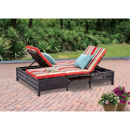 Mainstays Double Chaise Lounger, Stripe, Seats 2 @ Walmart $110 free shipping
