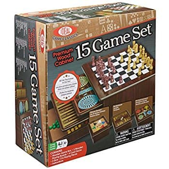 Ideal Premium Wood Cabinet 10 Game Set for $16.59 w/free store pickup or FS with PRIME