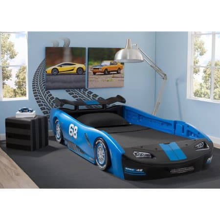 Delta Children Turbo Race Car Twin Bed - Blue for $131.25 +FS