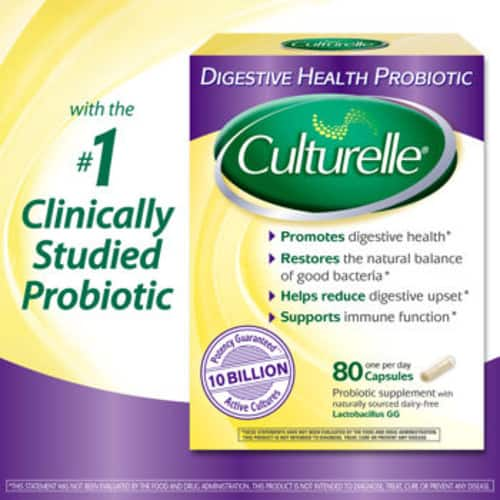 Culturelle Digestive Health Probiotic, 80 Vegetarian Capsules for $23.99 + FS Costco members