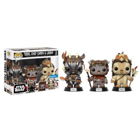 Updated-Funko POP! Movies: Star Wars - Ewok 3 Pack - Teebo, Chirpa, Logray - Walmart Exclusive $12.98 + Free store pickup