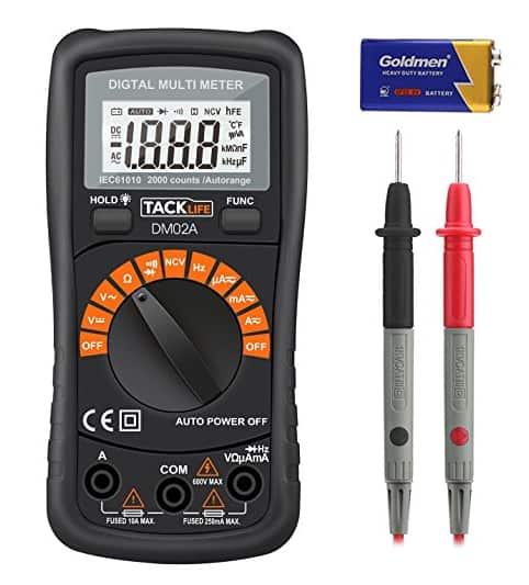 Tacklife DM02A Classic Digital Multimeter with LCD Backlight for $8.46 AC + FS w/Prime