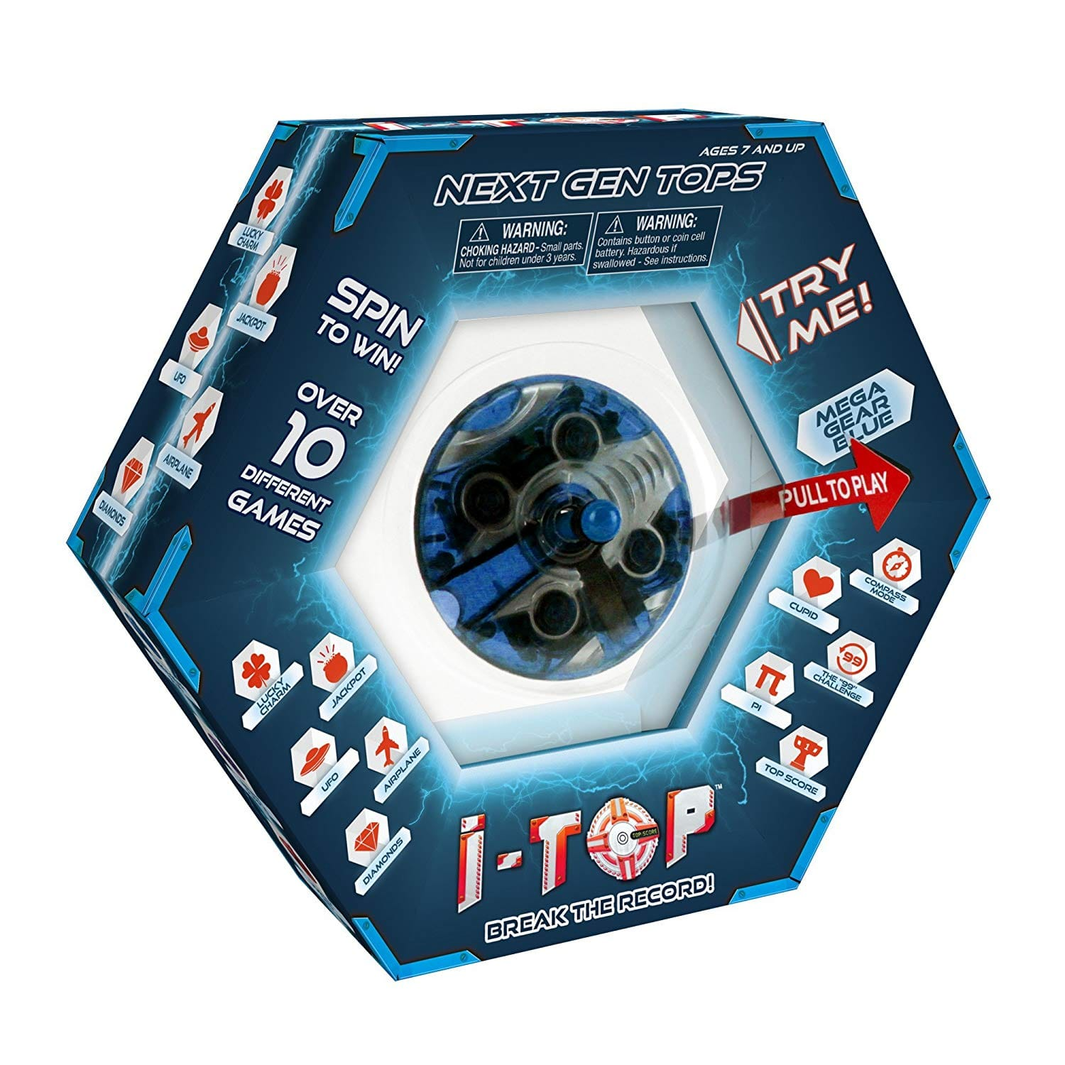 I-Top Spinner Game, Mega Gear Blue $5.20 shipped with Amazon Prime