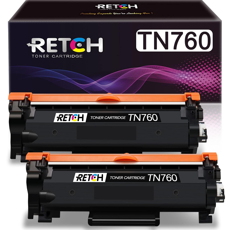 Compatible Toner Cartridge Replacement for Brother TN760 TN-760 TN730 TN-730, Used with HL-L2350DW HL-L2370DW HL-L2390DW HL-L2395DW MFC-L2710DW (2 Pack) $14.99 at Amazon