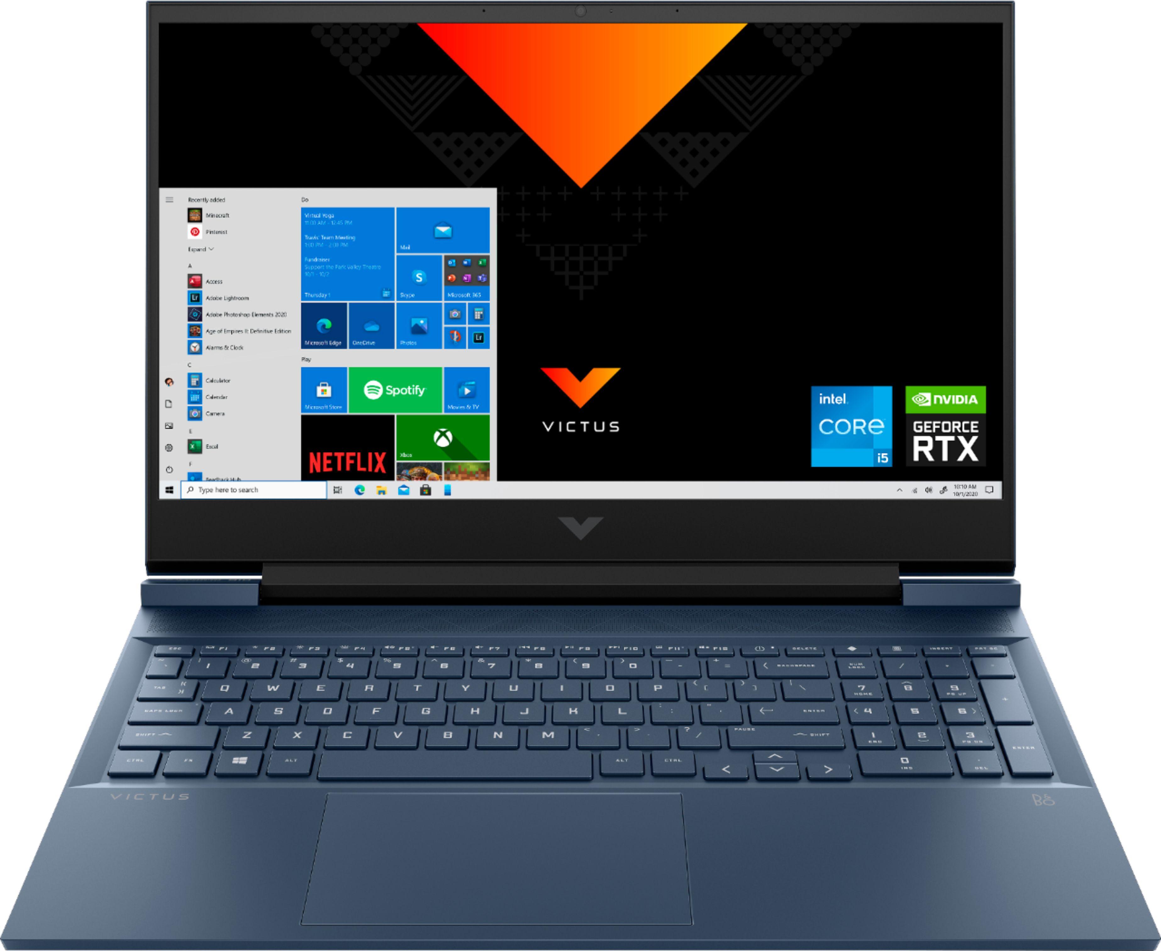 "HP - Victus 16.1"" Laptop - Intel Core i5 - 8GB Memory - NVIDIA GeForce RTX 3050 - 256GB SSD $799"