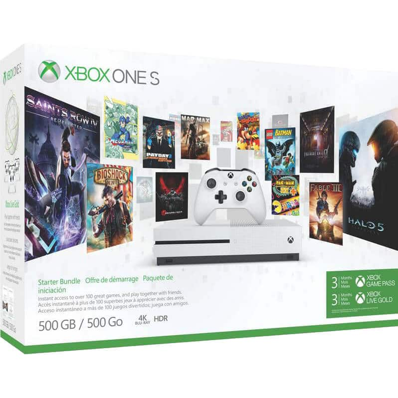 Fry's In-Store Offer: Xbox One S 500GB Starter Bundle Console $30 off after promo code + $50 Fry's Gift Card $249