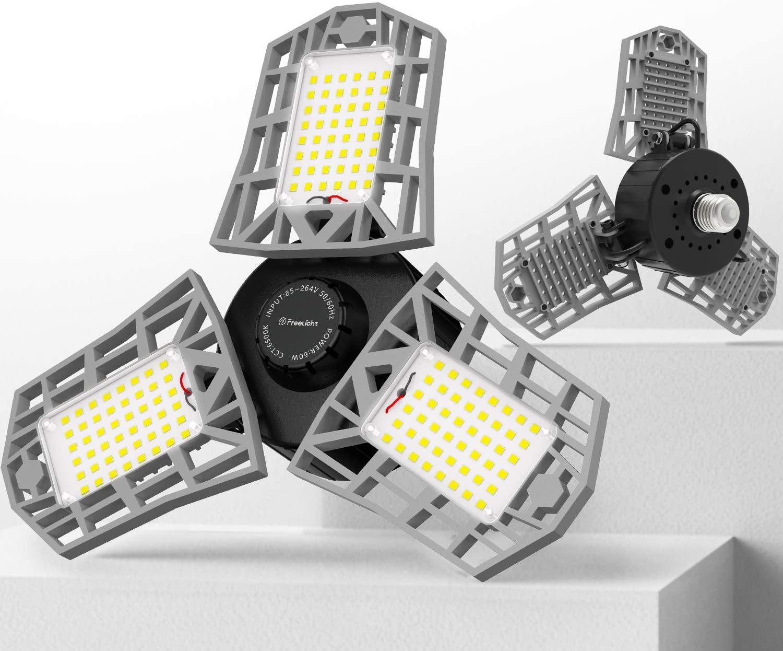 2-Pack LED Garage Light, 60W attic lights $16.17