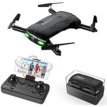 RC Quadcopter Drone with 2.0MP Camera Live Video Foldable Arms Pocket Mini Drone for Beginners 2.4G 6-Axis $45.99