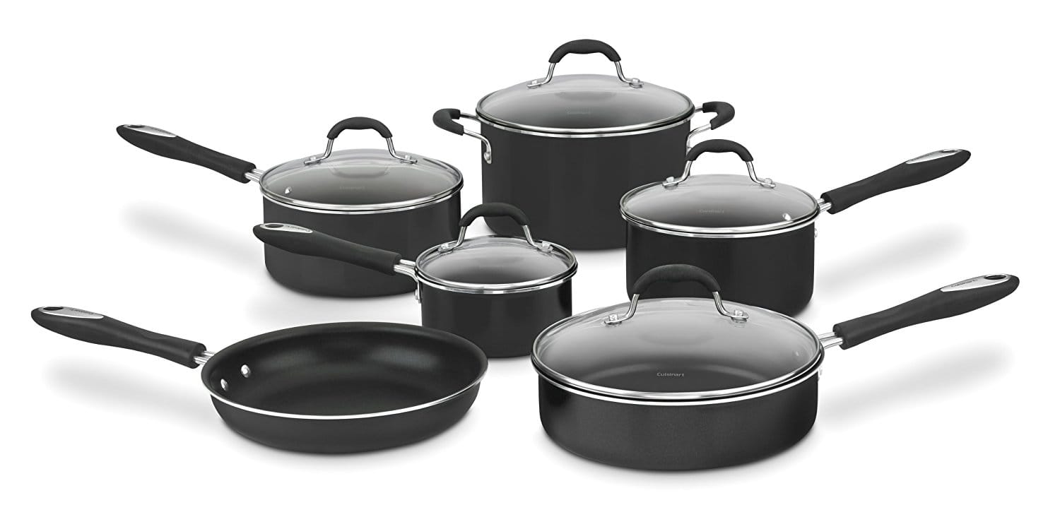 Cuisinart 55-11BK Advantage Nonstick 11-Piece Cookware Set, Black $59.99