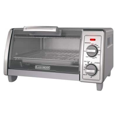 BLACK+DECKER 4-Slice Toaster Oven - Stainless Steel TO1700SG - $10 off ! + shipping $19.99