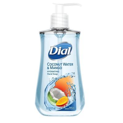 Dial Liquid Hand Soap, Coconut Water Mango, 7.5 Fluid Ounces - ADD-ON  $1